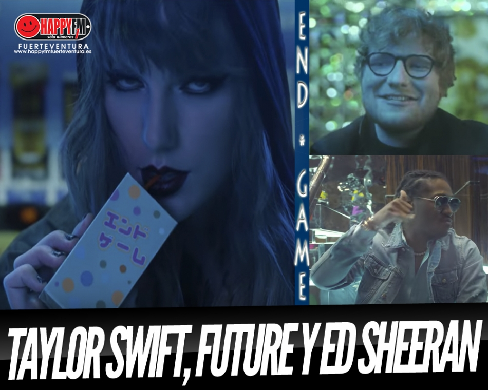"Taylor Swift, Future y Ed Sheeran se van de fiestaca en ""End Game"""