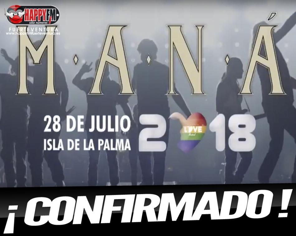 ¡CONFIRMADO! Maná actuará en la isla de La Palma