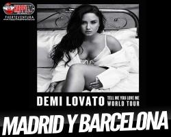 Demi Lovato anuncia conciertos en Madrid y Barcelona