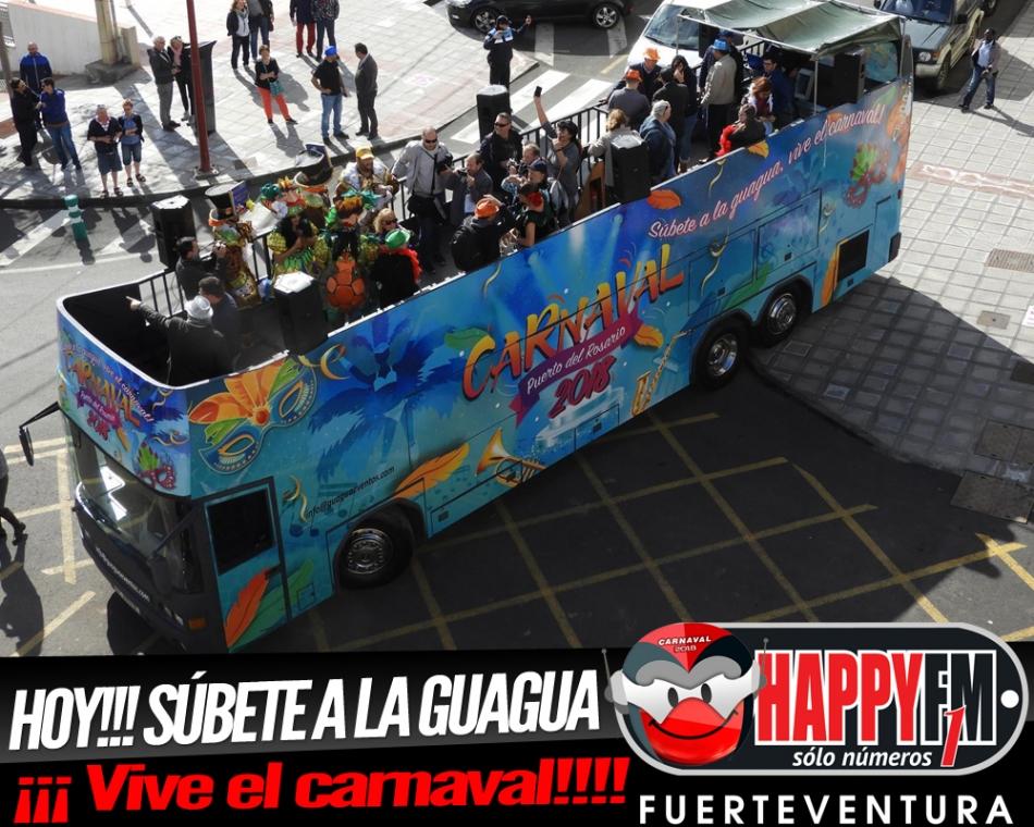¡Hoy! Súbete a la guagua…Vive el Carnaval en Puerto del Rosario