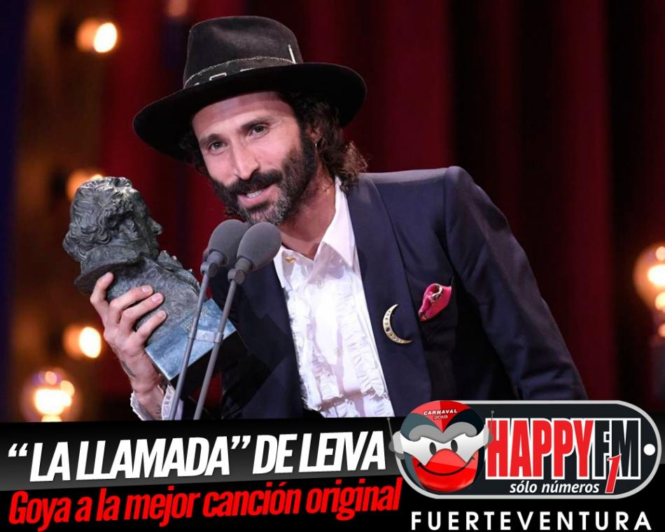 """Leiva recibe el Goya a la mejor canción original por """"La Llamada"""""""