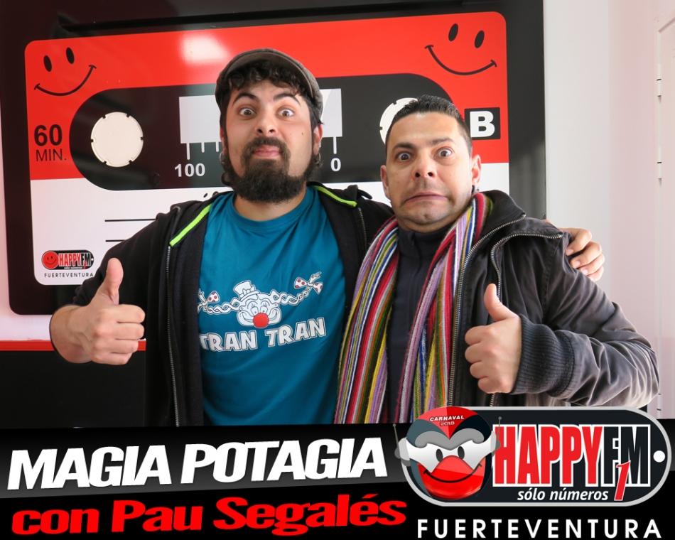 Magia potagia en los estudios de Happy FM Fuerteventura con Pau Segalés