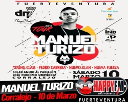 Manuel Turizo en concierto en Corralejo