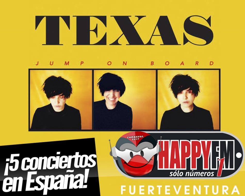 Texas anuncia conciertos en nuestro país