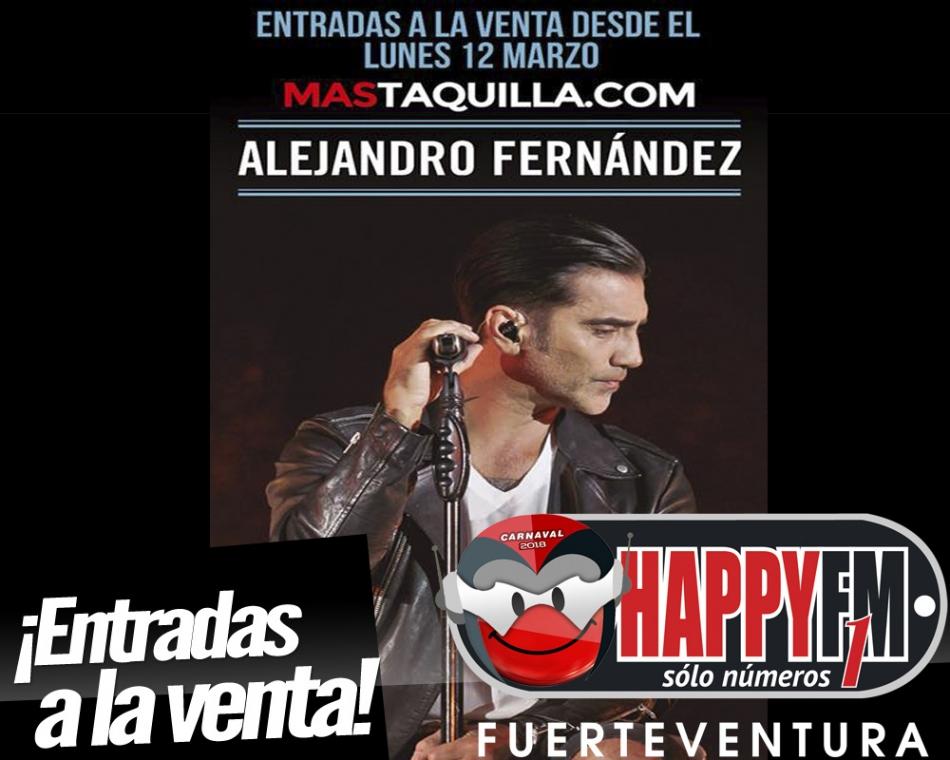 A la venta las entradas para el concierto de Alejandro Fernández en Gran Canaria
