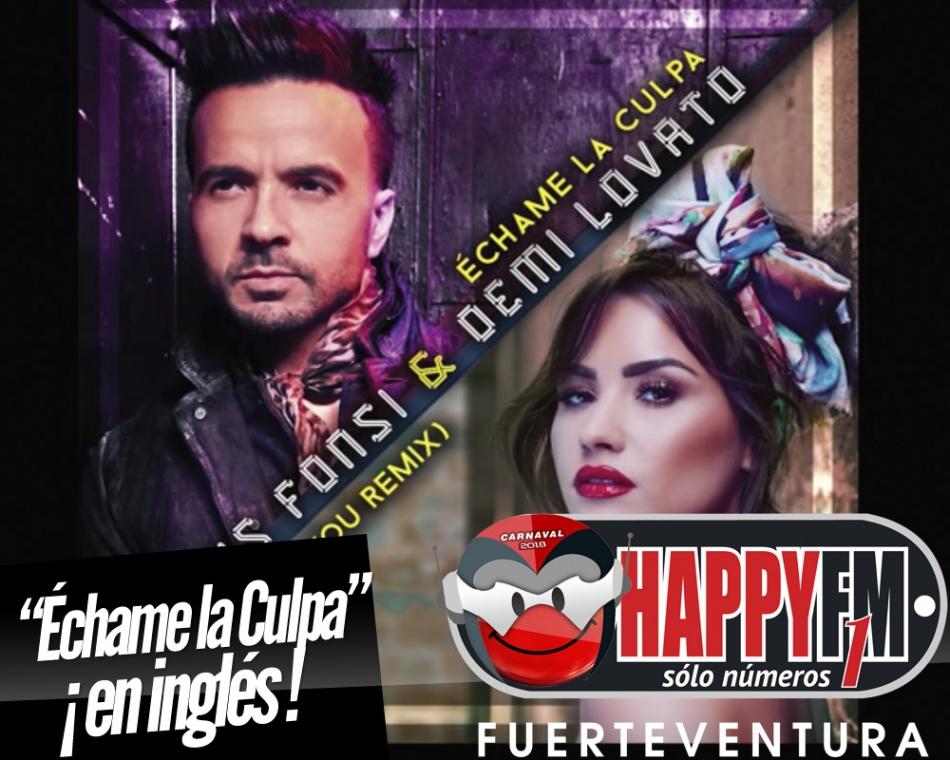 """Luis Fonsi y Demi Lovato estrenan la versión en inglés del """"Échame La Culpa"""""""
