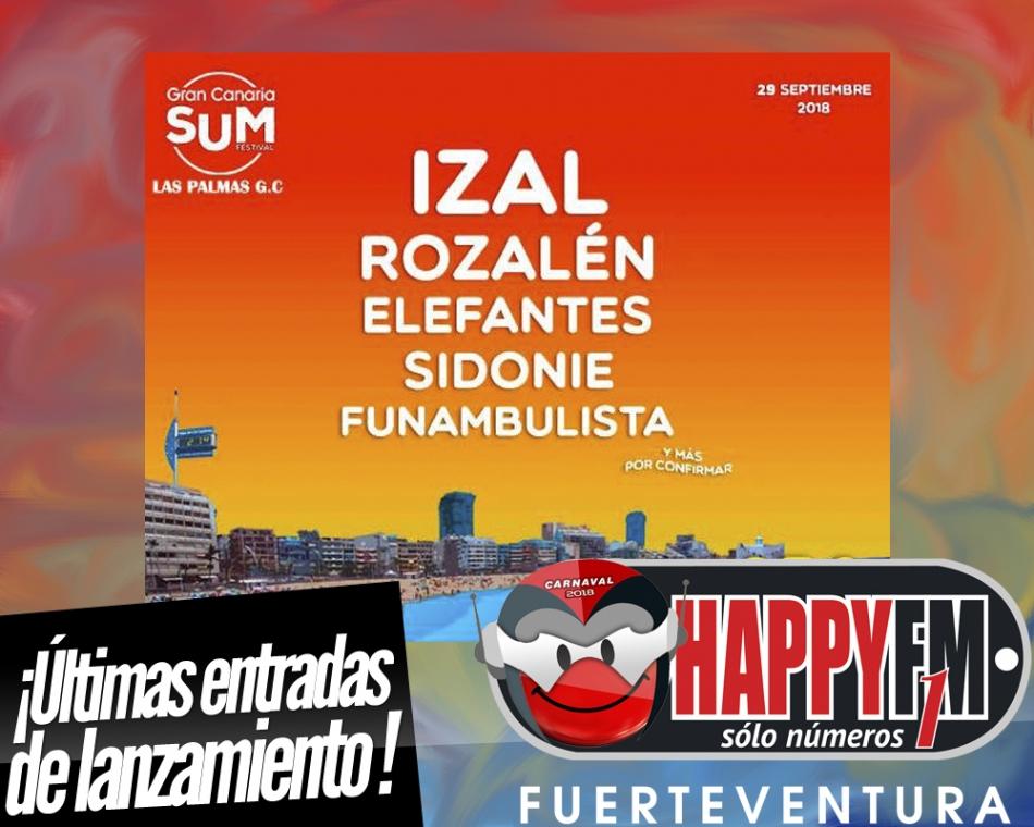 Sidonie, Izal, Rozalén, Elefantes y Funambulista en el Gran Canaria SUM Festival