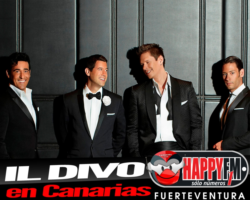 Único concierto de Il Divo en Canarias