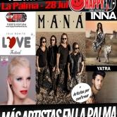 Maná, Sebastian Yatra, Inna y Soraya Arnelas en el Isla Bonita Love Festival en La Palma