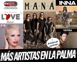 Sebastian Yatra, Inna y Soraya Arnelas junto a Maná en el Isla Bonita Love Festival