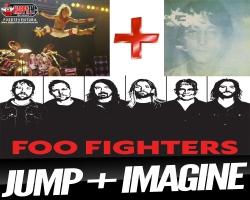 """Foo Fighters hacen una versión con la música de """"Jump"""" de Van Halen e """"Imagine"""" de Lenon"""