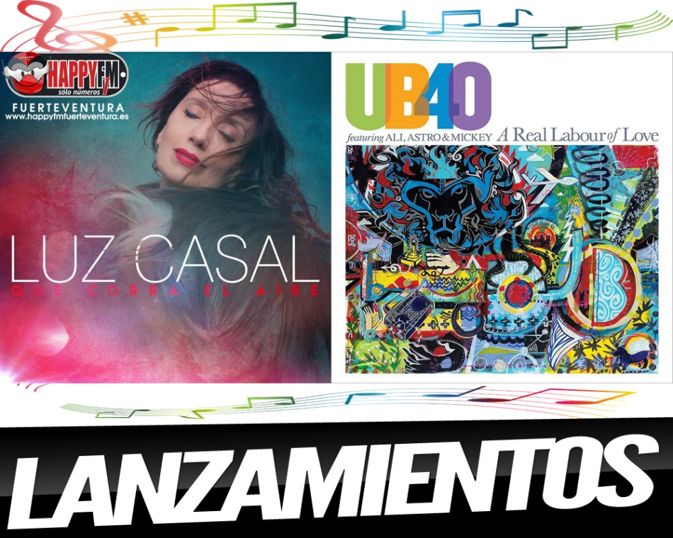 A la venta hoy lo nuevo de Luz Casal y UB 40