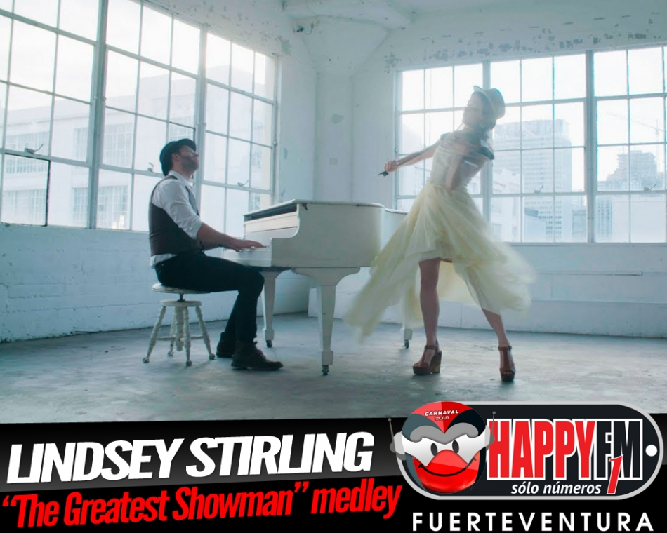 "Lindsey Stirling estrena un medley de ""The Greatest Showman"""