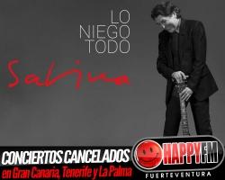 Joaquín Sabina cancela los tres conciertos en Canarias