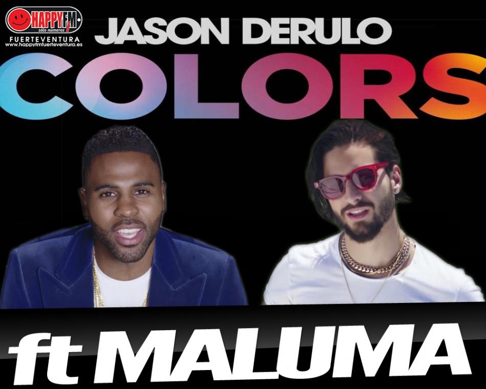 """Jason Derulo estrena la versión spanglish de """"Colors"""" ft Maluma"""