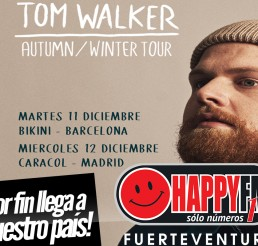 Tom Walker estará de concierto en Madrid y Barcelona