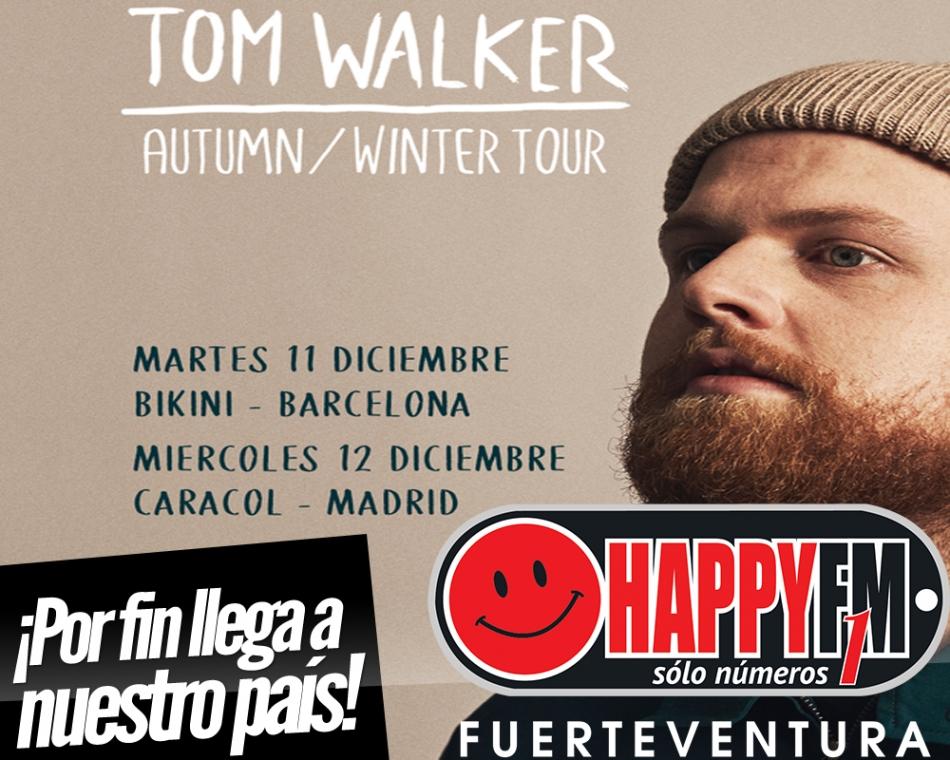 Tom Walker estará de concierto en Madrid y Barcelona