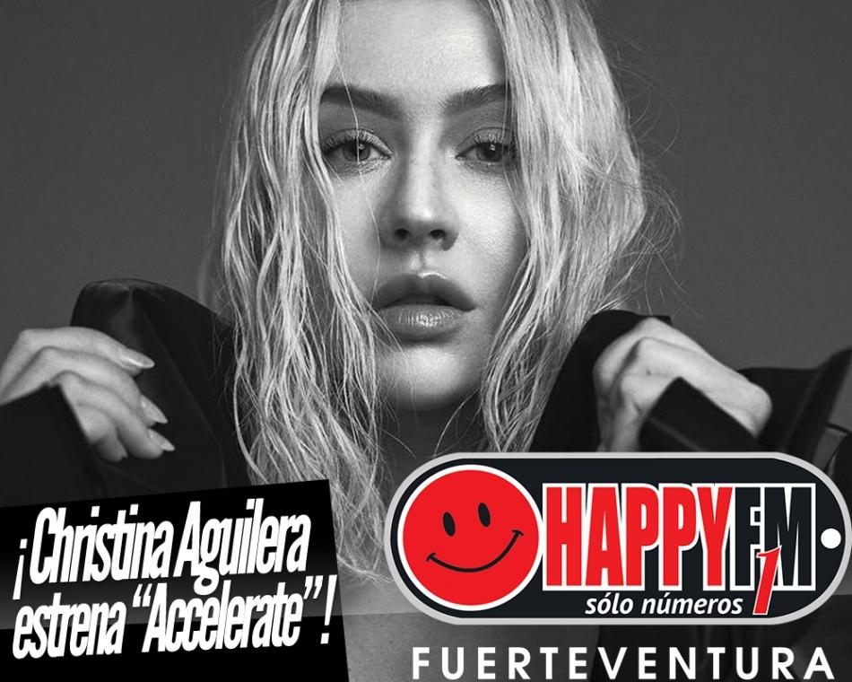 """Christina Aguilera estrena """"Accelerate"""""""