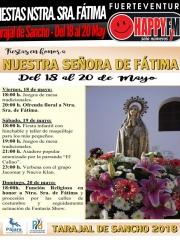 Fiestas en honor a Nuestra Señora de Fátima 2018 en Tarajal de Sancho: del 18 al 20 de Mayo