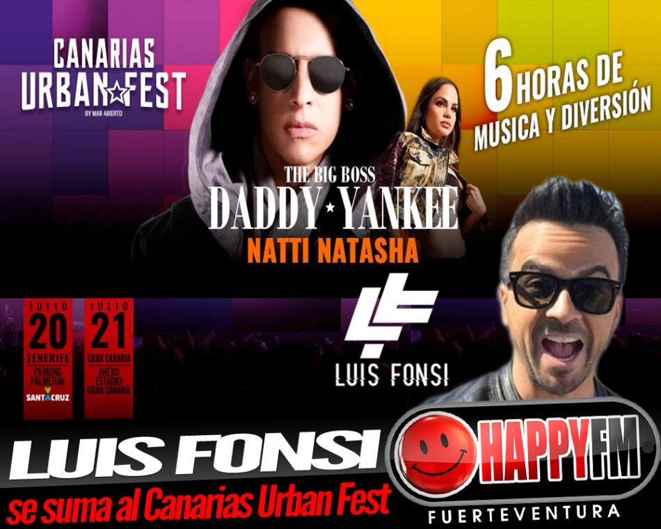 Luís Fonsi se suma a  Daddy Yankee y Natti Natasha en el Canarias Urban Fest