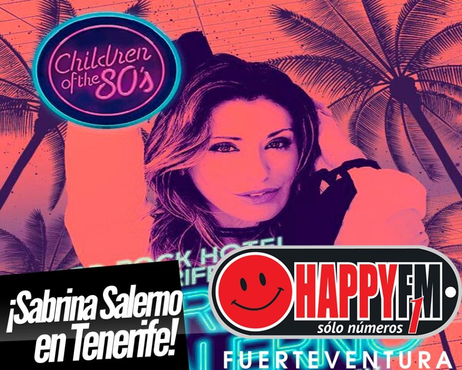 Sabrina Salerno llega a Tenerife en el mes de Junio