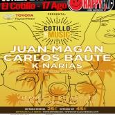 Carlos Baute, Juan Magán y K-Narias en el Cotillo Live Music