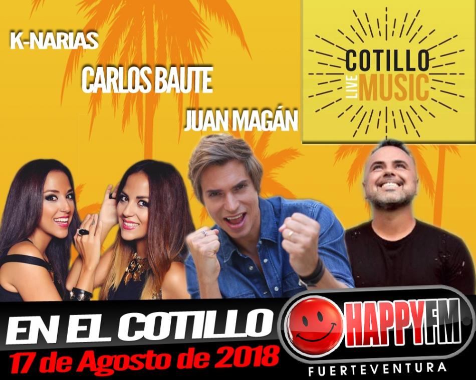 Carlos Baute, Juan Magán y las K-Narias en el Cotillo Live Music
