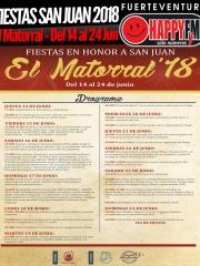 Fiestas en honor a San Juan Bautista en El Matorral 2018 (del 14 al 24 de Junio)