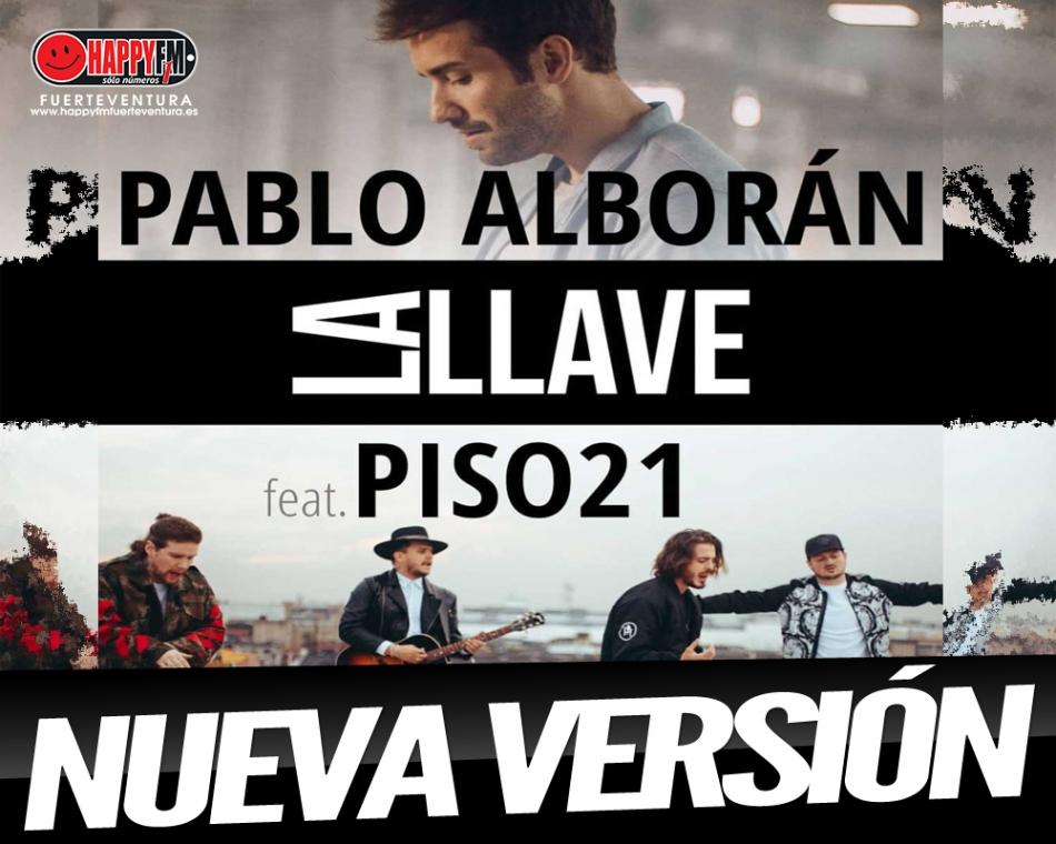 """Pablo Alborán estrena una nueva versión de """"La Llave"""" junto a Piso 21"""