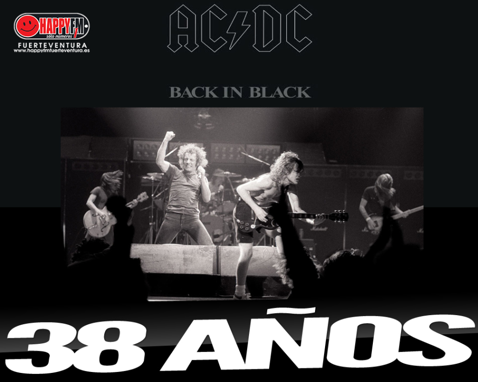 """Hoy hace 38 del """"Back In Black"""" de AC/DC"""