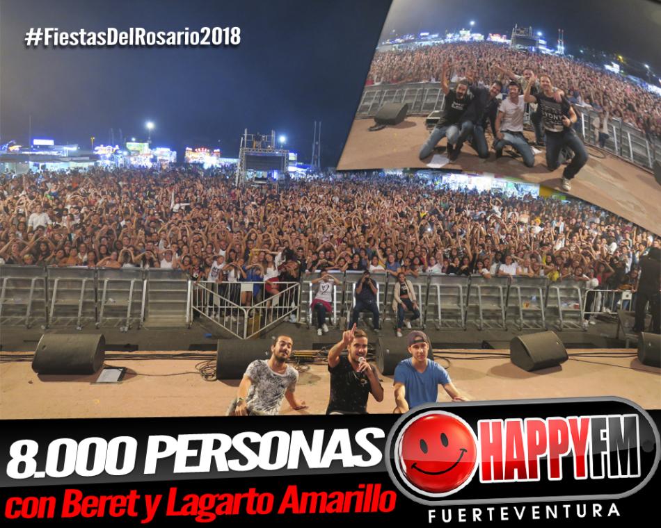 8.000 personas corean las canciones de Beret y Lagarto Amarillo en las Fiestas del Rosario 2018
