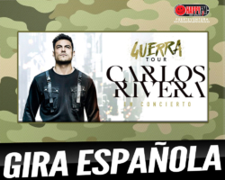 Carlos Rivera anuncia las fechas de su Guerra Tour en nuestro país