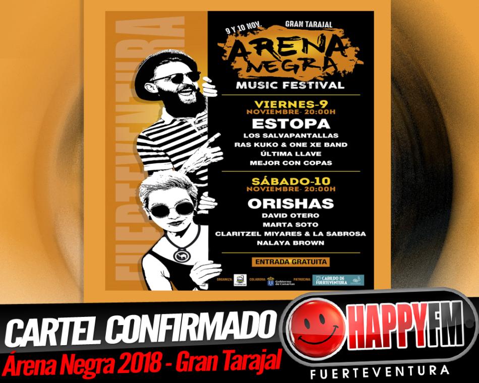 Orishas y David Otero comparten cartel con Estopa en el Festival Arena Negra 2018 de Gran Tarajal