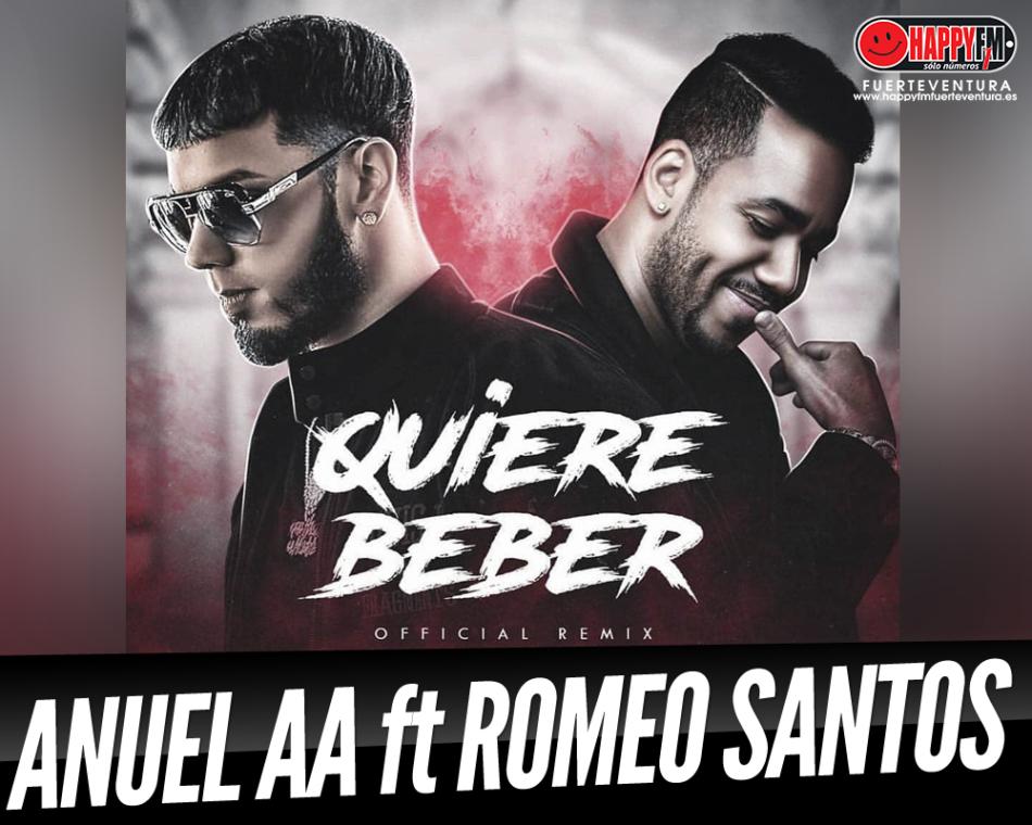 """Anuel AA presenta el remix de """"Quiere Beber"""" junto a Romeo Santos"""