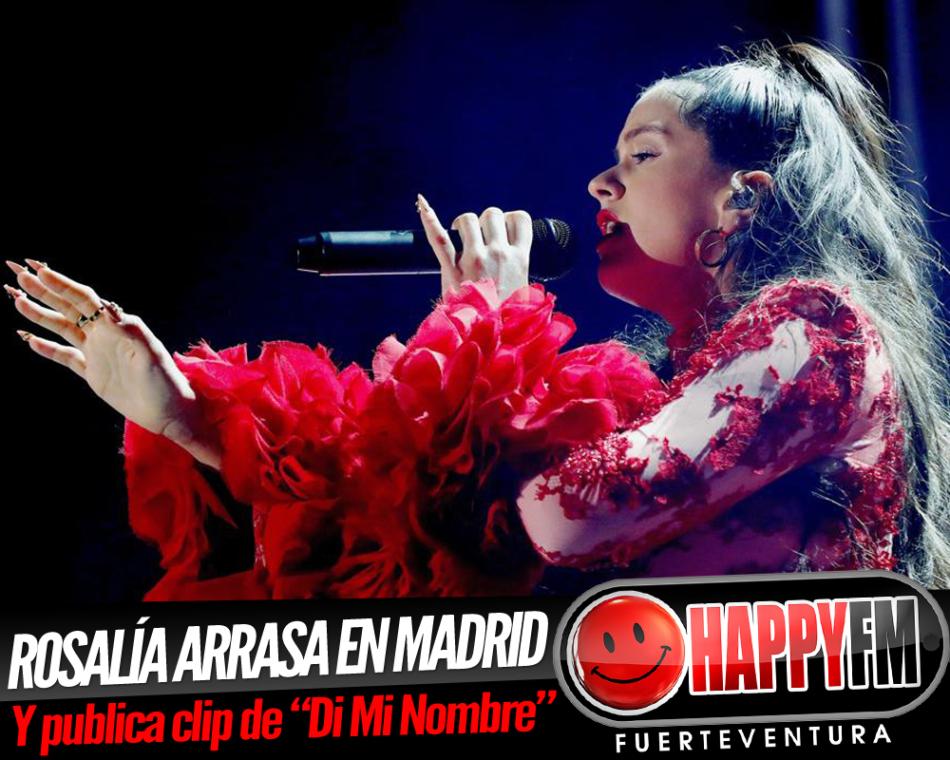 """Rosalía presenta el videoclip de """"Di Mi Nombre"""" y arrasa en Madrid"""