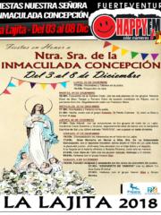 Fiestas en honor a Nuestra Señora de la Inmaculada Concepción 2018 (del 03 al 08 Diciembre)