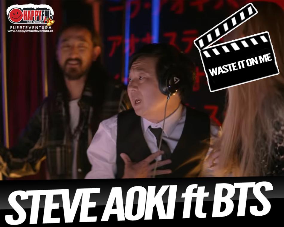"""Steve Aoki presenta el videoclip oficial del tema """"Waste It On Me"""" junto a BTS"""