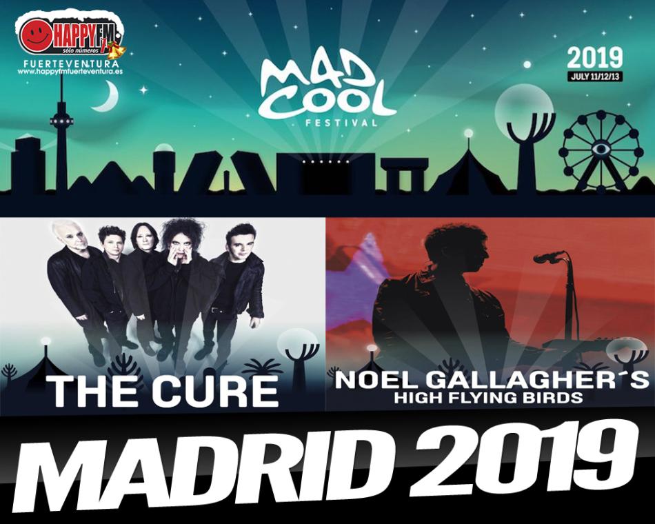 The Cure y Noel Gallagher actuarán en el Mad Cool 2019