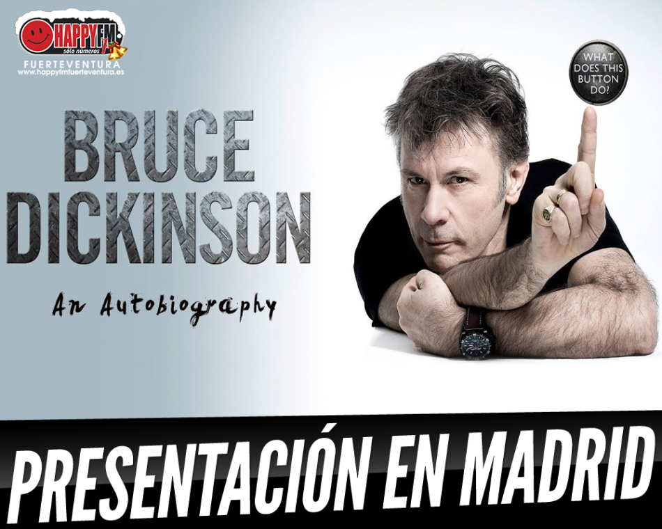 Bruce Dickinson (Iron Maiden) presentará su autobiografía en Madrid