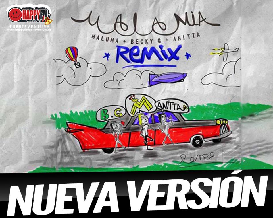 """Maluma publica el remix de """"Mala Mía"""" junto a Becky G y Anitta"""