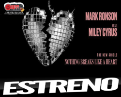 "Mark Ronson y Miley Cyrus estrenan ""Nothing Breaks Like a Heart"""