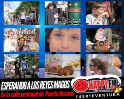 Especial Despiértate Happy en la calle peatonal de Puerto del Rosario…¡Ya Vienen Los Reyes Magos!