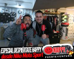 Especial Despiértate Happy en directo desde Niko Moto Sport