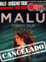 Cancelada la gira de Malu –  Tenerife
