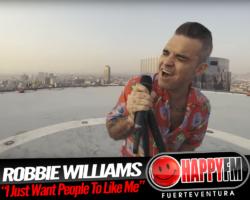 """I Just Want People To Like Me"" es lo nuevo de Robbie Williams"
