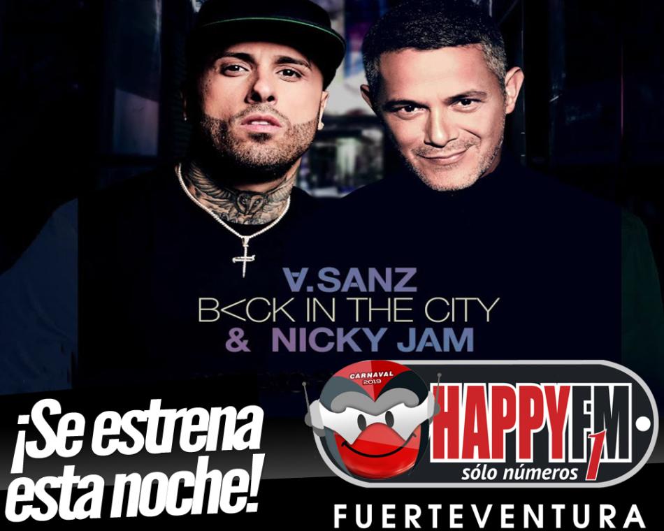 """Esta noche se estrena """"Back In The City"""", la esperada colaboración entre Alejandro Sanz y Nicky Jam"""