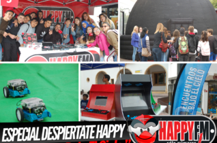 Especial Despiértate Happy en «Encuentros Bajo el Cielo» en la calle peatonal de Puerto del Rosario