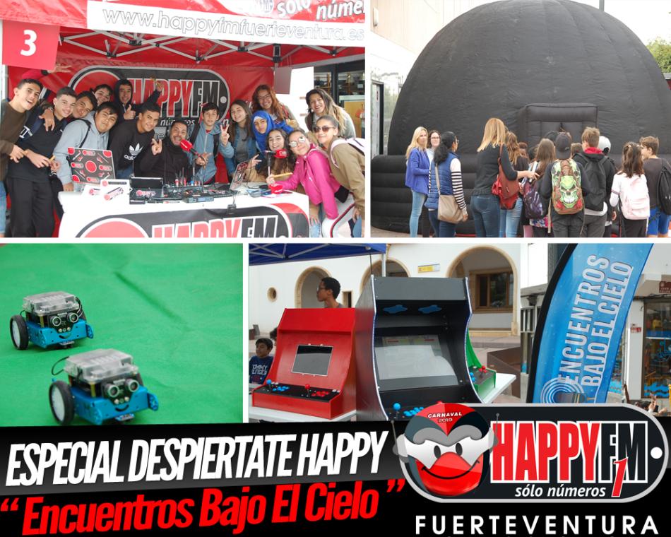 """Especial Despiértate Happy en la calle peatonal de Puerto del Rosario con """"Encuentros Bajo El Cielo"""""""