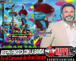 Joseph Fonseca estará en los Carnavales de Gran Tarajal junto a su banda