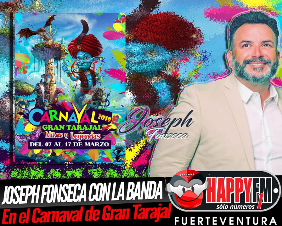 Joseph Fonseca estará en los Carnavales de Gran Tarajal junto a la Orquesta La Sabrosa